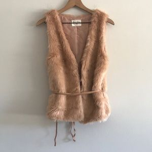 NWOT Love Tree Furry Vest Size M